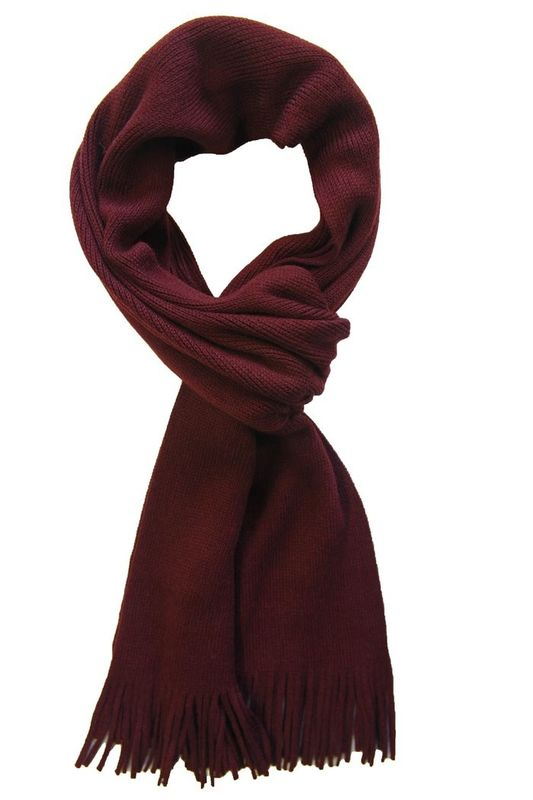 Stripes Cashmere Knit Scarves For Women , Chunky Winter Scarf With Strings